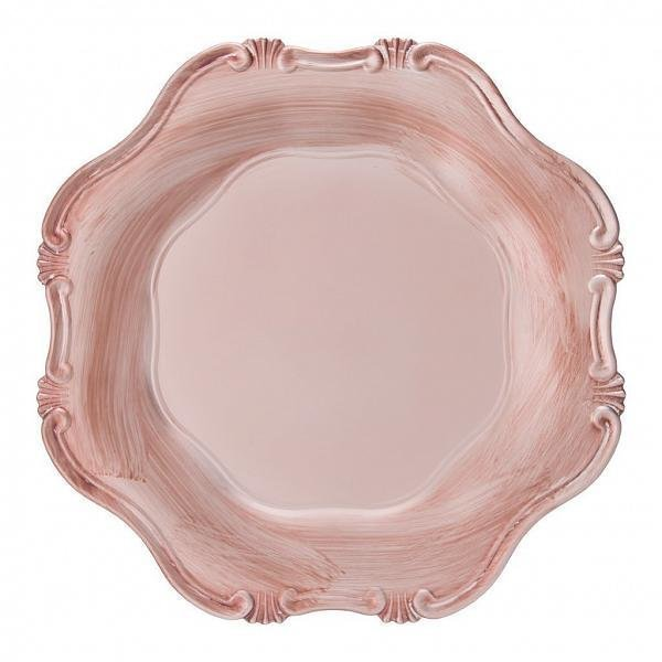 Sousplat Corinto Rose Gold Antique