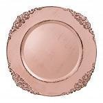 Sousplat Galles Barroco Rose Gold Antique